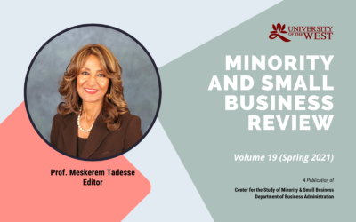 Minority and Small Business Review, Vol. 19 (Spring, 2021), Now Available