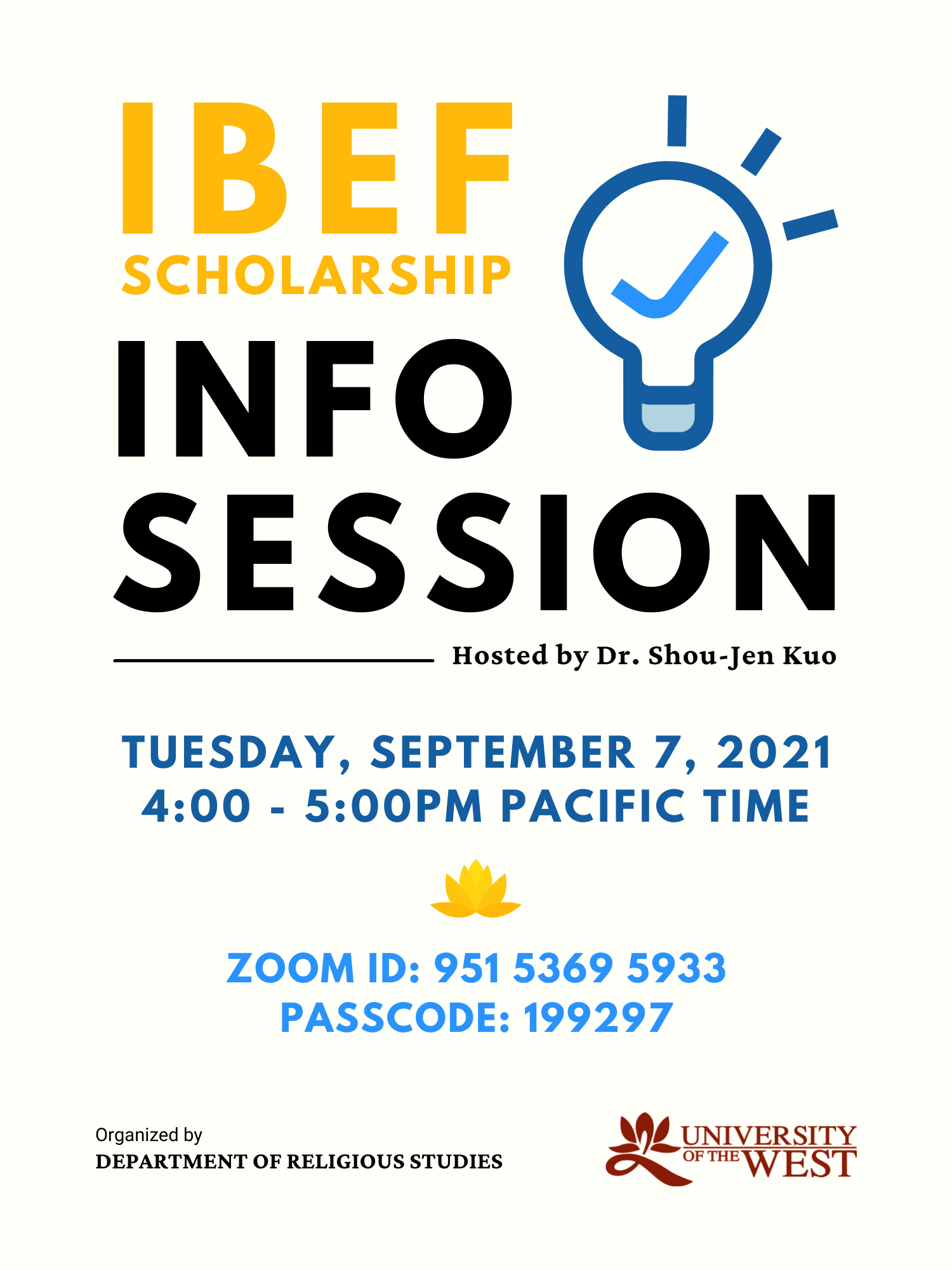 IBEF Info Session flyer