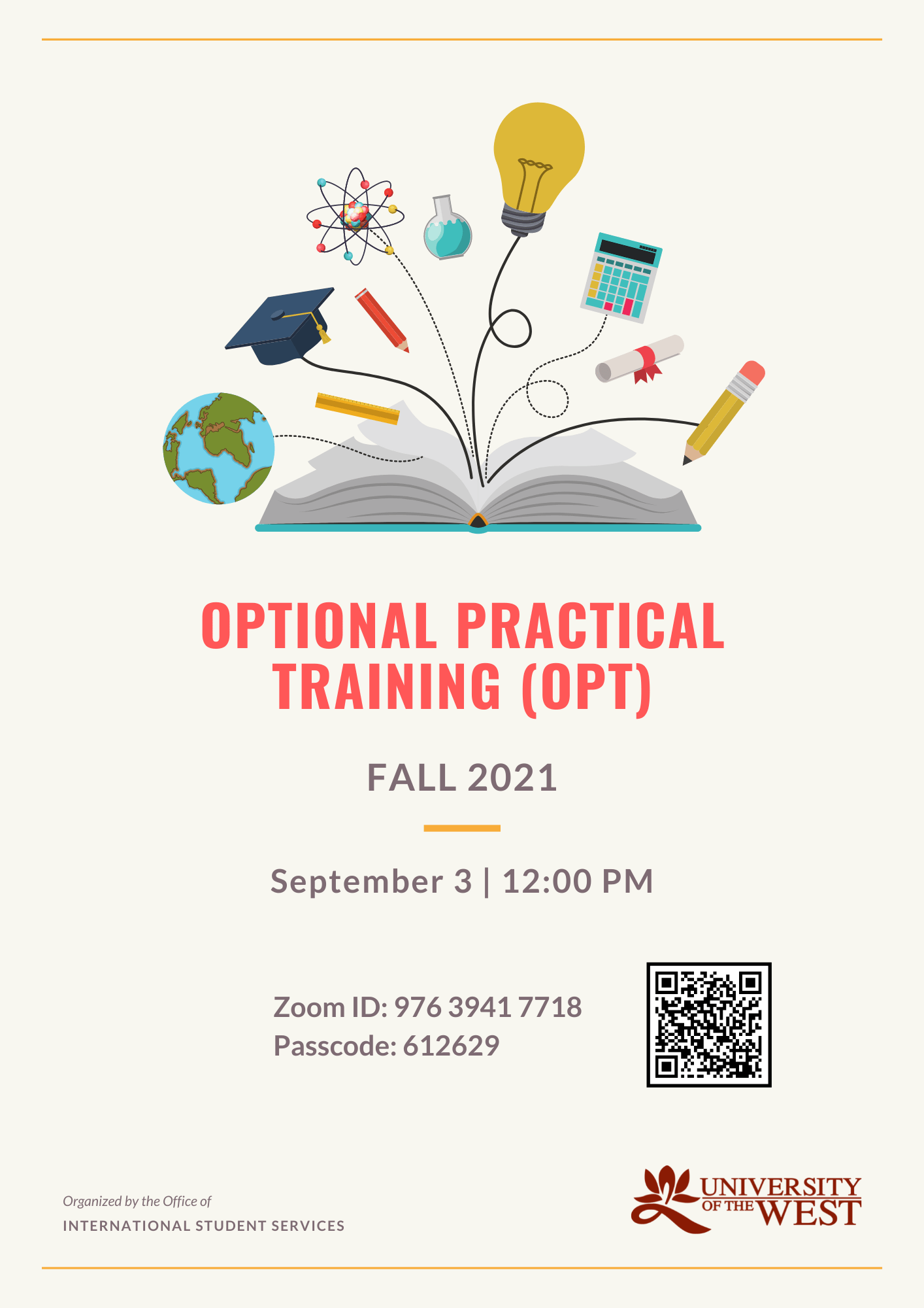 Optional Practical Training for International Students flyer