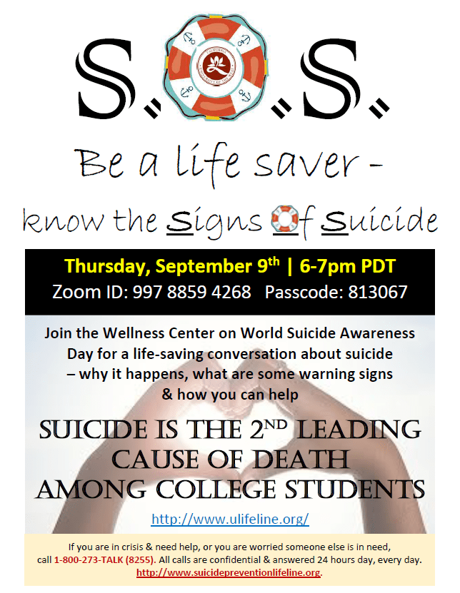 Be a Life Saver - Know the Signs of Suicide flyer