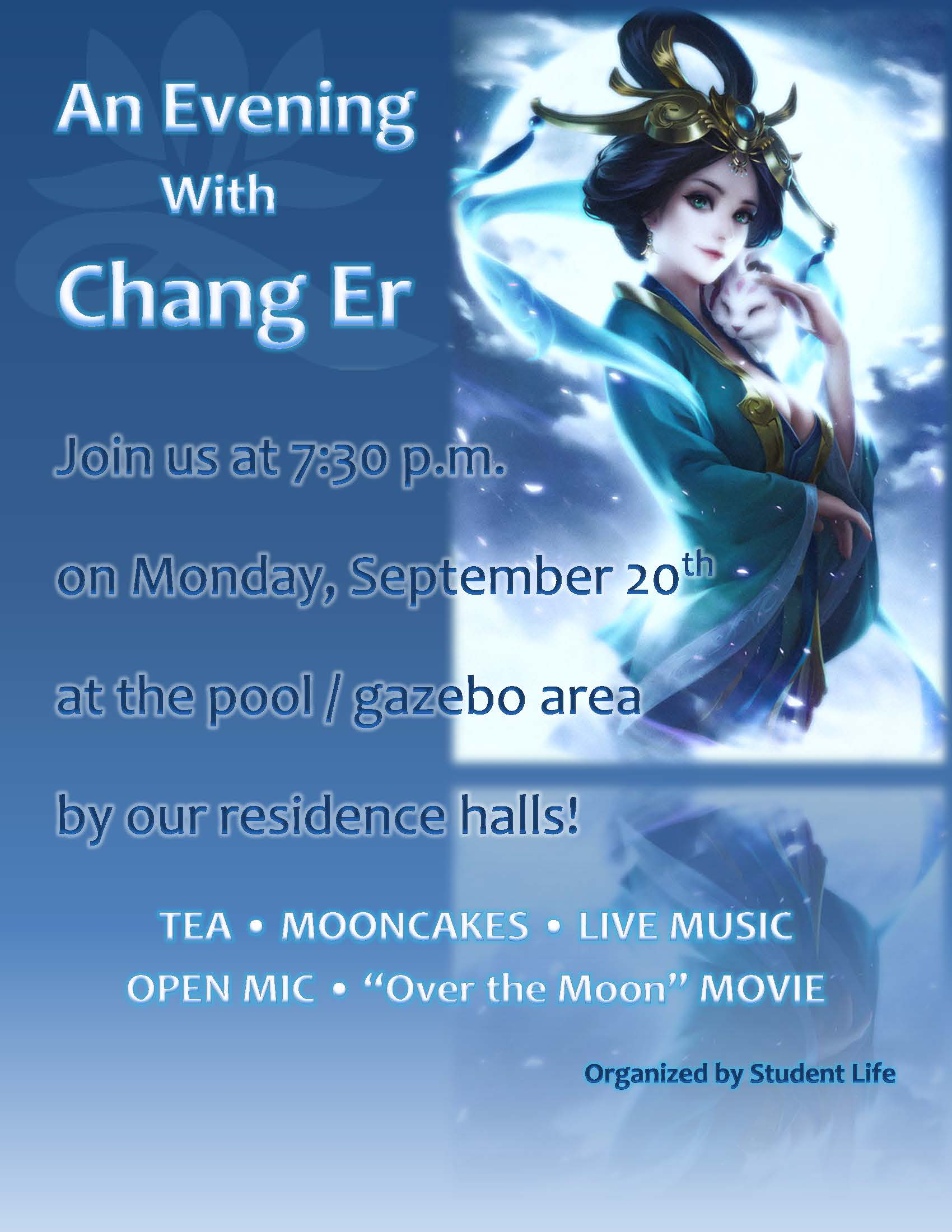 An Evening with Chang Er event flyer