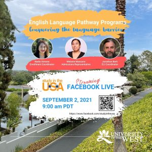 Study in the USA Facebook Live Streaming flyer
