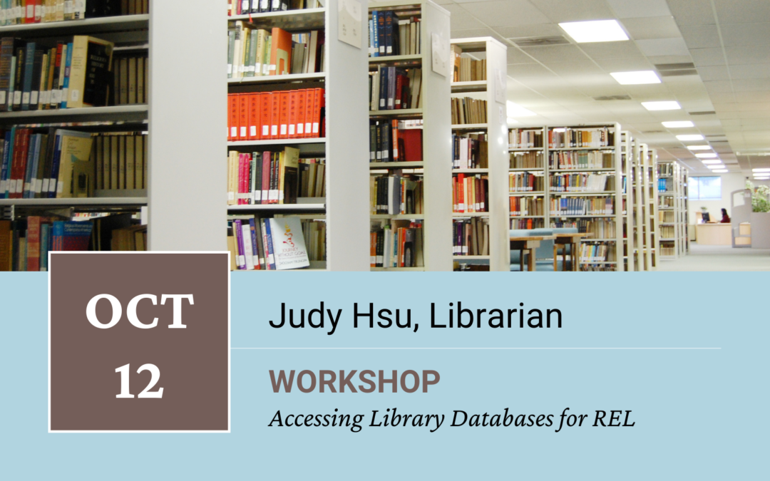 Accessing Library Databases for Religious Studies Workshop